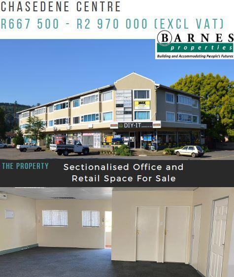 Commercial Office Space  For Sale in Chasedene, Pietermaritzburg